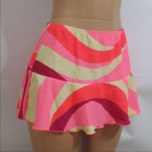 Venus swirl SwiM skirt pink pretty size large